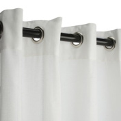 Sunbrella Outdoor Curtain with Grommets-Nickle Grommets-Sheer Snow 137cm x 305cm