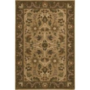 Hand-knotted Tan La Crosse Semi-Worsted New Zealand Wool Rug