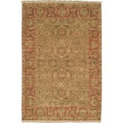 Safavieh Old World Collection OW115E Hand-Knotted Traditional Oriental Light Green and Rust Wool Area Rug