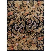 Hand-knotted Multicoloured La Crosse Semi-Worsted New Zealand Wool Rug