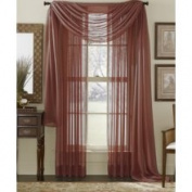 Burgundy 213cm Sheer Curtain