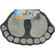 Store51 Grey Foot Prints Door Mat - Black-Grey Decor Accent Rug