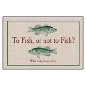 To Fish or Not to Fish Indoor/Outdoor Doormat