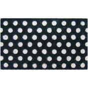 White Polka Dots Door Mat Rug Coconut Fibre Doormat