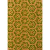 Oasis Cocoa Matting 'Green Burst' Tan Door Mat (16 x 24)