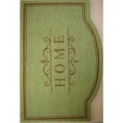 Oasis mt725mat Cocoa Matting 'Home' Green Door Mat (22 x 34)