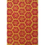 Oasis Cocoa Matting 'Red Burst' Beige Door Mat (16 x 24)