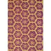 Oasis mt148mat Cocoa Matting 'Purple Burst' Tan Door Mat (16 x 24)
