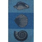 Oasis Cocoa Matting 'Sea Shell' Blue Door Mat (18 x 30)