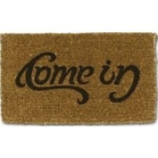 Suckuk Come-in / Go-Away Ambigram Doormat Single Door