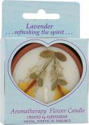 Auroshikha Flower Candle Lavender Medium Round - 6.4cm x 2.5cm