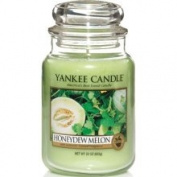 Yankee Candle Honeydew Melon Large Jar Candle, Fruit Scent