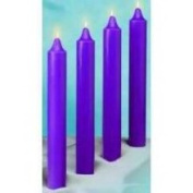 Candle-Advent Ref Beeswax 12 x 1 1/2-4 Purple [Emkay Candles]