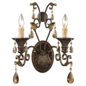 Wistaria Lighting Trump Home Rochelle 2 Light Candle Wall Sconce