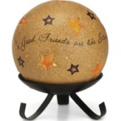 Pavilion Gift Good Friends Tea Light Candle Holder with Stand