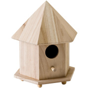Plaid:craft Wood Gazebo Birdhouse 17cm X23cm X5-3/4