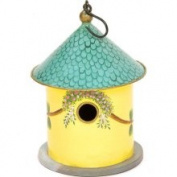 Achla BH-20 Bastion Iron & Wood Birdhouse Bird House - Yellow
