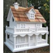 Home Bazaar HOMEHB7102W Colonial Cottage Birdhouse White