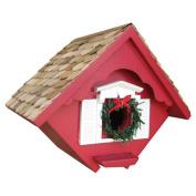 Home Bazaar HB-2044C Christmas Wren Cottage- Removable Wreath Detail
