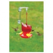 Songbird Essentials Red Hummingbird Window Feeder w/ Hanger, 350ml SEBCO312W