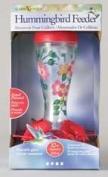 Garden Song Handpainted Glass Funnel Bird Feeder