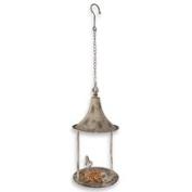 Aged Metal Bird Feeder