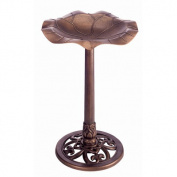 Gardman BA01282 Lily Leaf Pedestal Bird Bath - Copper - 71cm