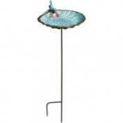 Achla Designs Scallop Shell Bird Bath W/Stand - ACHLABBM01S