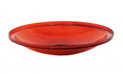 Achla CGB-14R 14 in. Red Crackle Glass Bowl