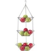 Danesco H581 Wire 3-Tier Hanging Basket - Chrome