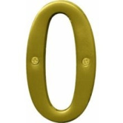 Hy-ko BR-43BB-0 4 in. Brass No. 0 House Number