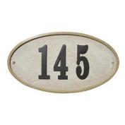 Qual Arc RIG-4911-SS Ridgestone Oval Sandstone Address Plaque