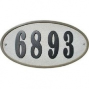 Qual Arc RIG-4914-SL Ridgestone Oval Slate Address Plaque