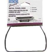 Decko 38100 Chrome Metal Towel Ring