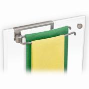 Pivoting Over Cabinet Door Towel Bar- Satin Nickel