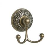 Towel Double Hook in Antique Brass - Hammer HW3012