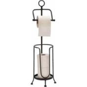 Benzara 66016 Metal Toilet Paper Holder Floor Mounted Bath Room Decor