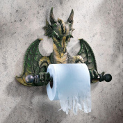 Design Toscano CL45492 Tyrant Commode Dragon Toilet Tissue Holder