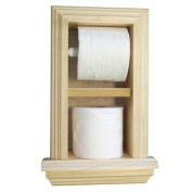 WG Wood Products TP-45.7cm The Wall Toilet Paper Holder with Ledge 2