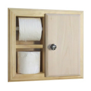 WG Wood Products TP-43.2cm The Wall Toilet Paper Holder with Storage