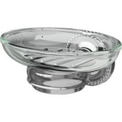 Ginger - Canterbury Soap Dish - Clear - 1515/PB - Polished Brass