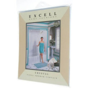 Ex-Cell 1ME-40O-649-960 Crystal Vinyl Shower Curtain