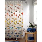 Maytex Mills Embossed Tropical Fish Shower Curtain