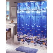 Excell Home Fashions 1ME-040O0-3106/990 70x72 Sea SHWR Curtain