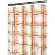 Watershed Wavy Plaid Shower Curtain in Tangelo