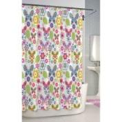 KASSATEX Butterfly Printed Cotton Shower Curtain