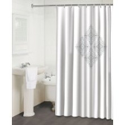 Famous Home Fashions Jewel Shower Curtain White