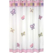 Butterfly Pink and Purple Shower Curtain by Sweet JoJo Designs