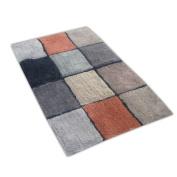 Veratex Tiles Bath Rug in Brown