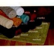Home Source 20106LGO15 Reversible 100 Percent Cotton Large Bath Rug - Oat